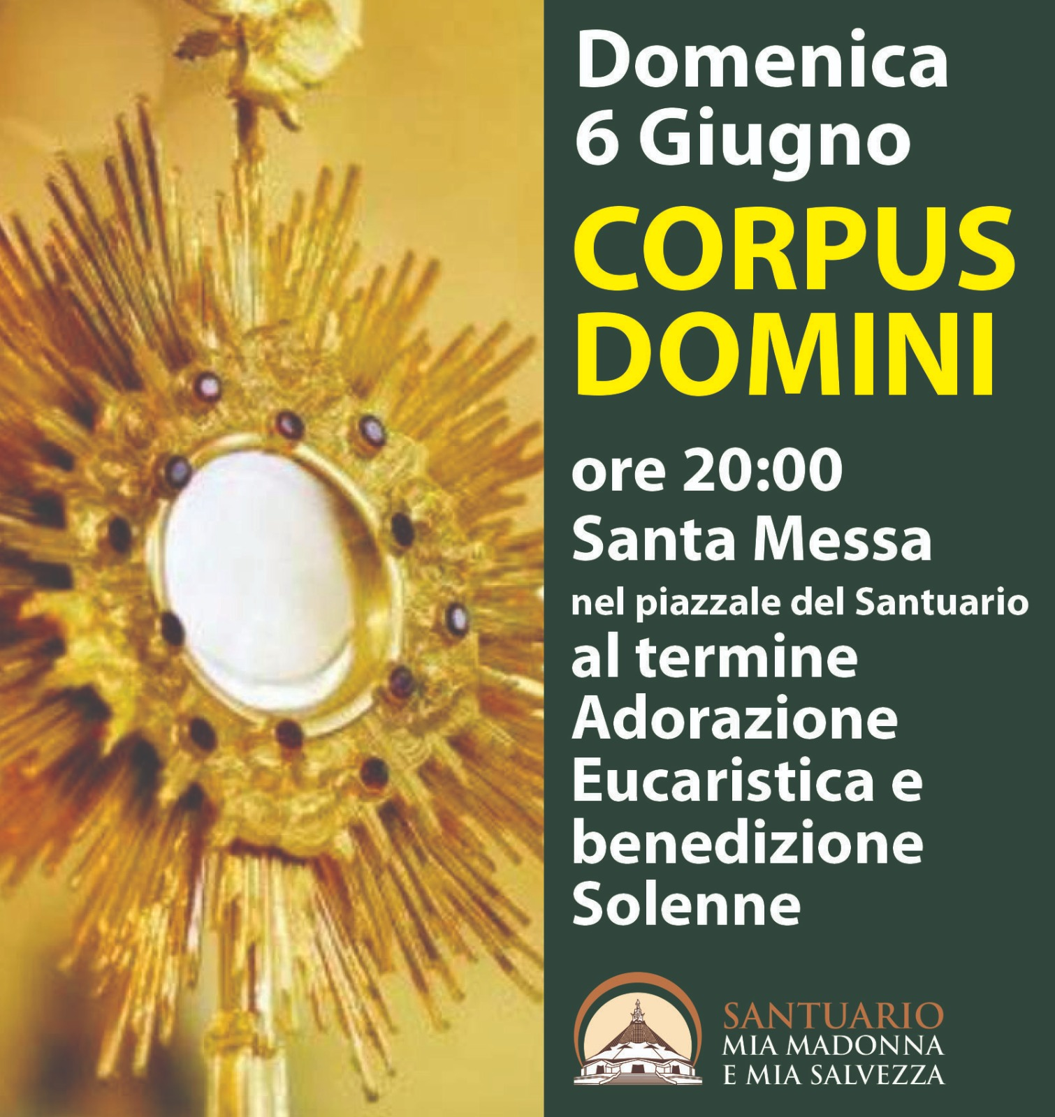 6 Giugno festa del Corpus Domini